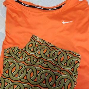 Nike dri fit short sleeve top & Lularoe Tc